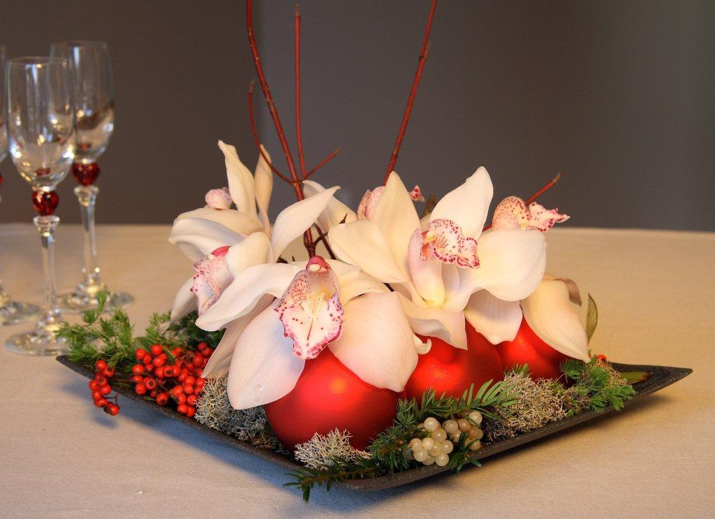 Consommer malin id e cadeau n 1 pour no l acheter des fleurs for Cadeau de table pour noel